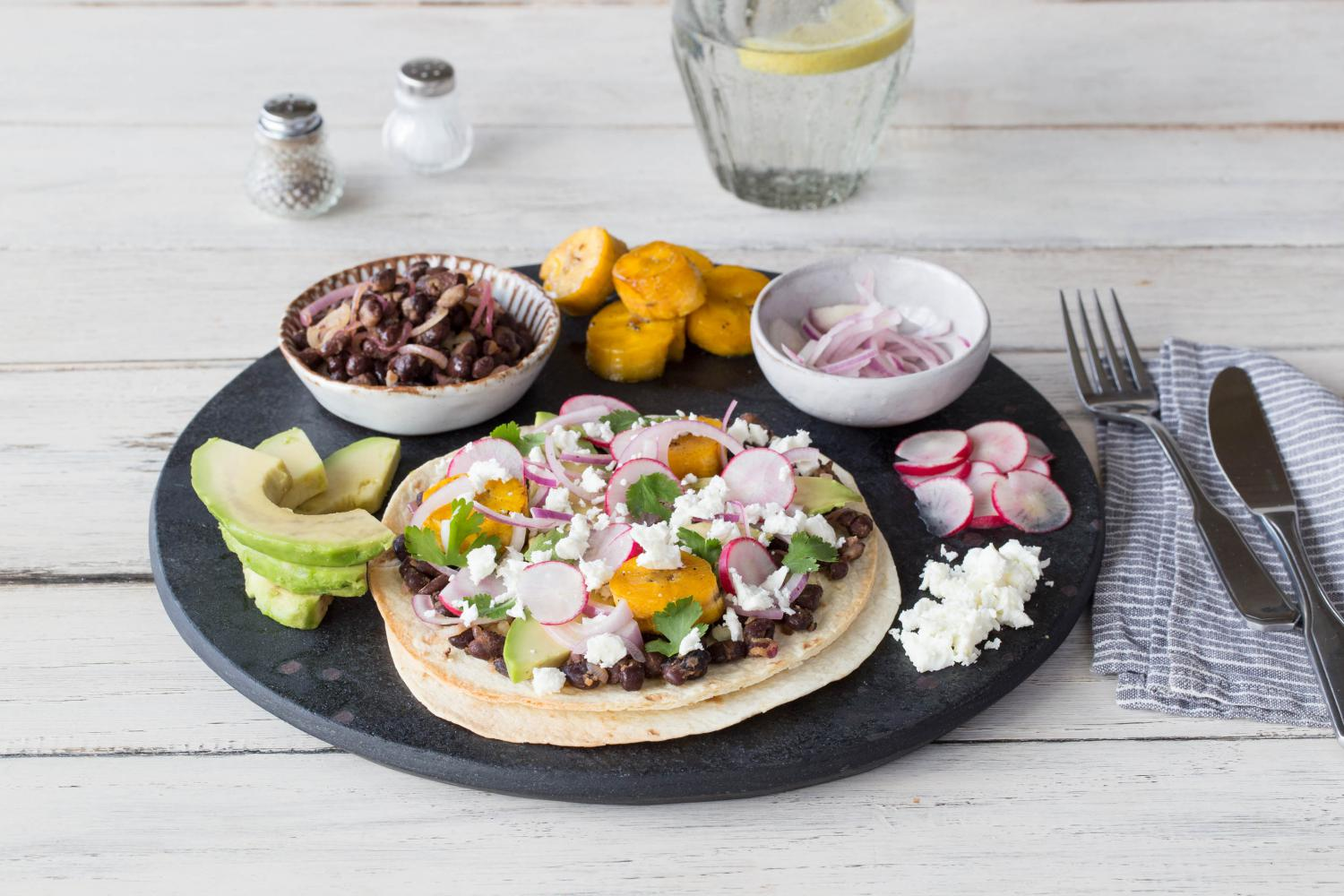 PLANTAIN_AND_BLACK_BEAN_TOSTADAS_WITH_PICKLED_RED_ONION