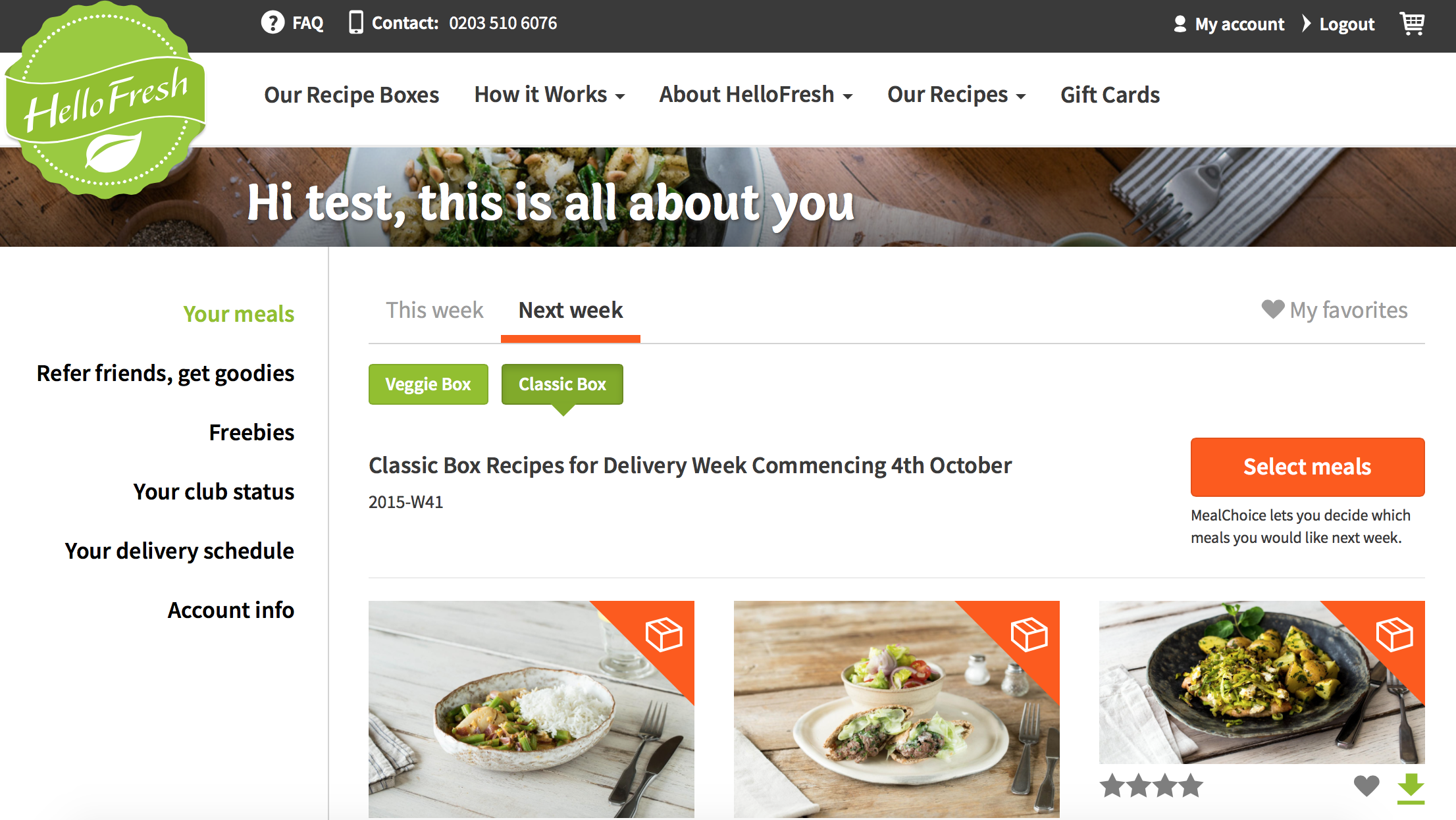 Make your weekly food and recipe delivery simple hellofresh make a meal swap forumfinder