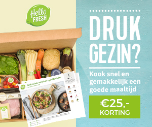 HelloFresh korting van 20% met kans FamilyBox!