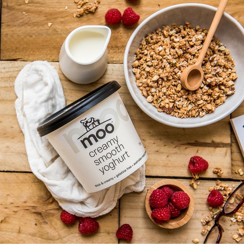 Moo Dairy yoghurt pot