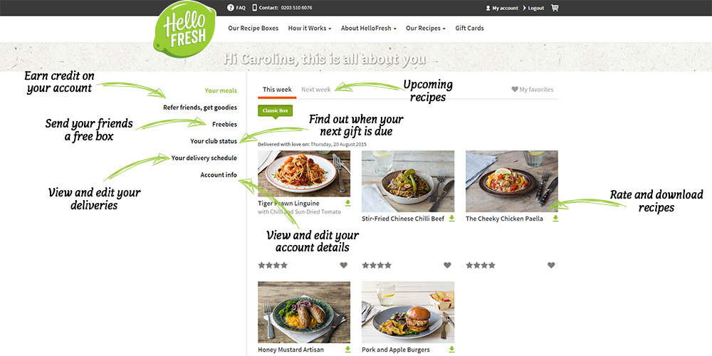 How to manage your account hellofresh overviewresizedg forumfinder Image collections