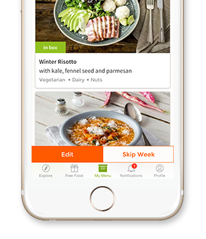 HelloFresh mobile app