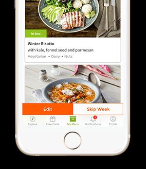 HelloFresh mobile app